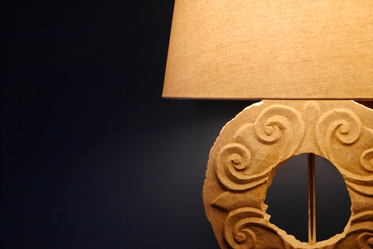 One of Noorside's hand-crafted crafted lamps