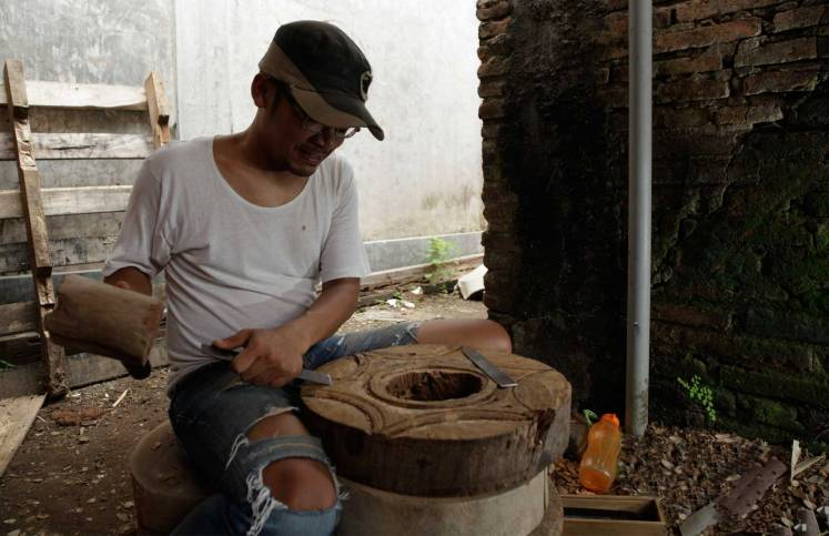 Product being hand-carved